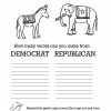 Election Day Coloring and Make A Word Activity Sheet