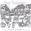 Plymouth Pups Thanksgiving Coloring Page