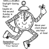 Daylight Savings Time Reminder Coloring Page
