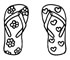 Print and Color Flip Flops