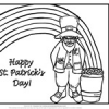 Leprechaun Color by Number and Coloring Page
