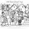 Halloween Trick-or-Treat Hidden Pictures Activity