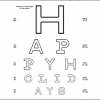 Custom Printable Eye Chart