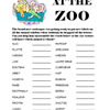 At the Zoo Word Scramble