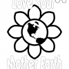 Love Your Mother Earth Coloring Page