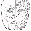 March Lion and Lamb Mask Printable Craft