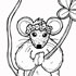 Springtime Mouse Coloring Page