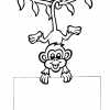 Monkey Message Coloring Page