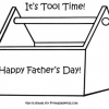 Fathers Day Printable Tool Box Activity