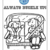 Buckle Up for Safety Coloring Page