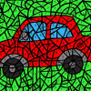Car Color-by-Number Mosaic