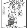 Johnny Appleseed Color-by-Number