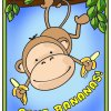 Gone Bananas Monkey Coloring Page