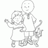 Caillou Coloring Pages for Preschoolers