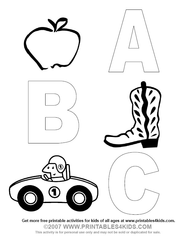 a b cs coloring pages - photo #23