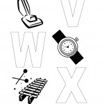Letters V, W, X