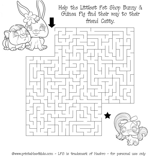 Printable Littlest Pet Shop Maze Printables For Kids Free Word Search Puzzles Coloring Pages And Other Activities