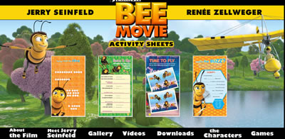 Bee Movie Printable Activity Sheets