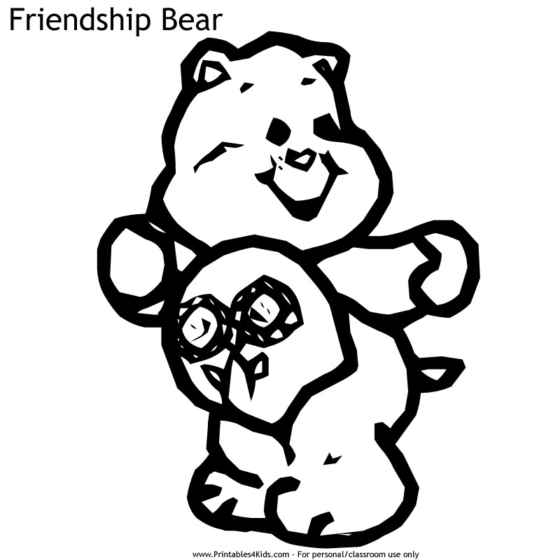 friendship bear - Care Bears Coloring Pages