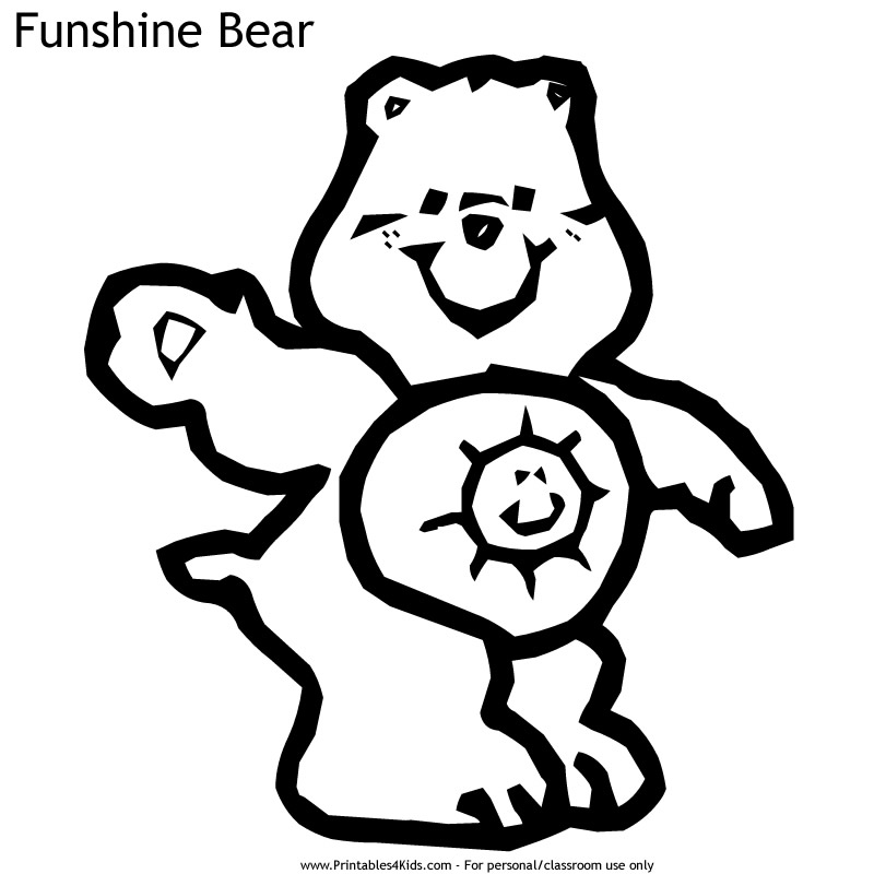 funshine cear coloring pages - photo#24