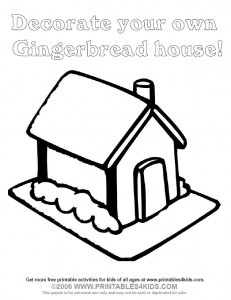 Gingerbread House Coloring Activity