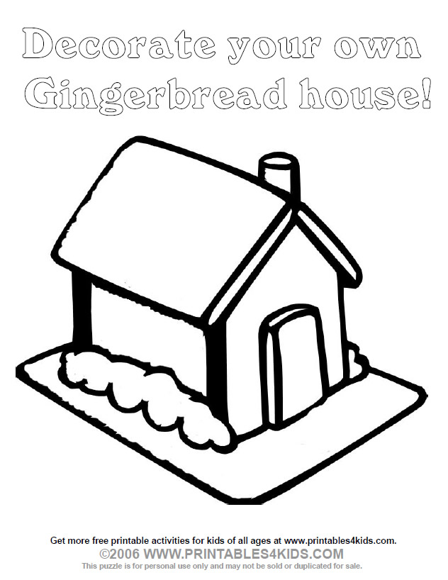 - Gingerbread House Coloring Page : Printables For Kids – Free Word Search  Puzzles, Coloring Pages, And Other Activities