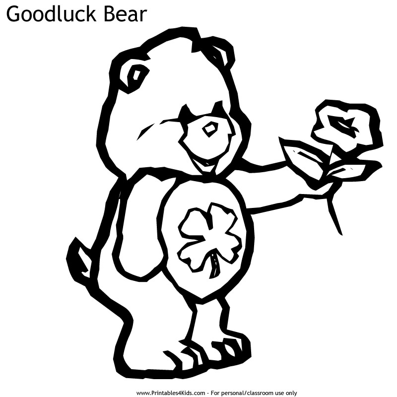 Lucky Care Bear Coloring Pages Images amp Pictures Becuo
