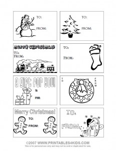 graphic relating to Printable Christmas Tags Black and White named Printables4Small children - totally free coloring web pages, phrase seem puzzles