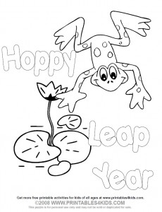 Printable Leap Year Coloring Page
