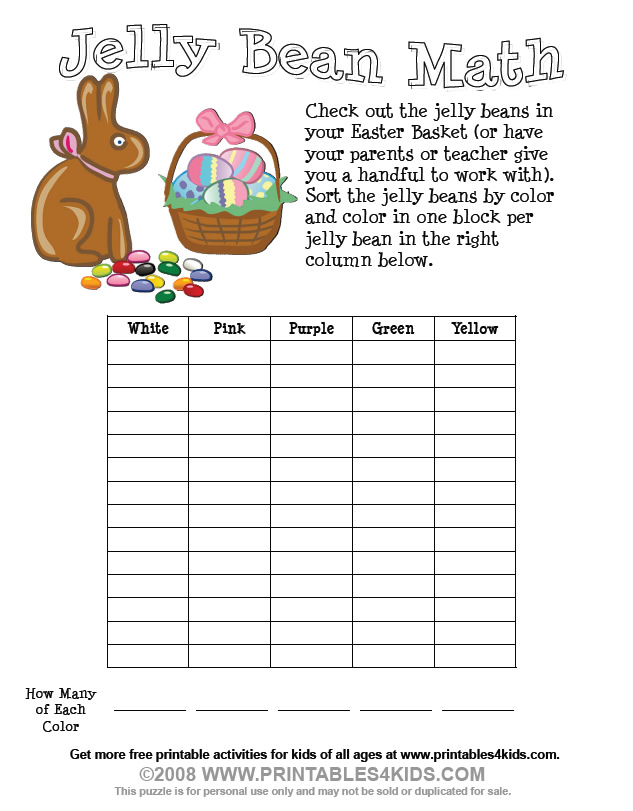 Addition Worksheets easter addition worksheets : Easter Jelly Bean Math Worksheet : Printables for Kids – free word ...