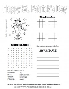 Patricks  Coloring Pages on Size Or Download St  Patrick   S Day Activity Sheet As A Pdf File