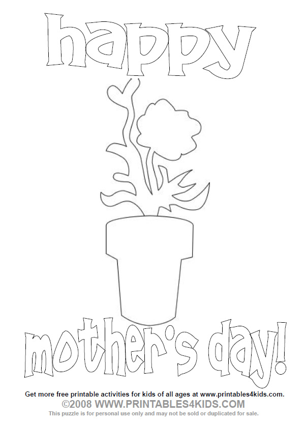 mothers day flowers coloring