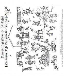 Dog Days of Summer Coloring Sheet