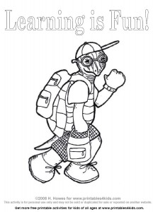 Click to Print Turtle Goes Back to School