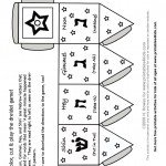 Print and Color Dreidel Game