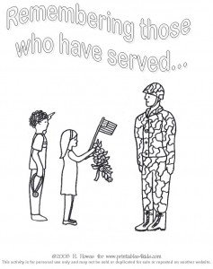 Veteran's Day Coloring Page