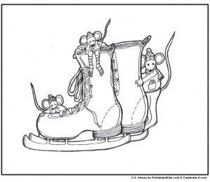 Mice Playing in Ice Skates