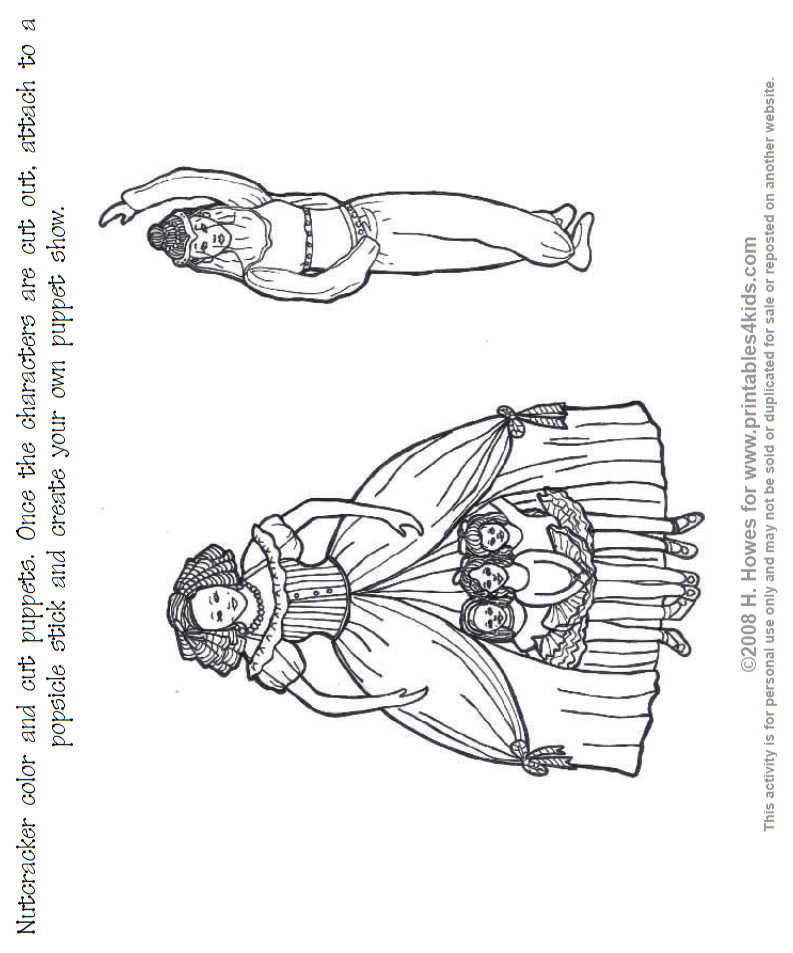 The nutcracker on pinterest nutcrackers puppets and for The nutcracker coloring pages