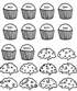cupcake math worksheet