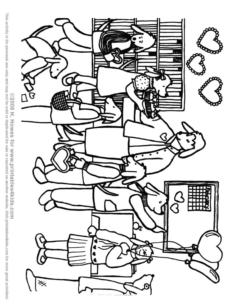 Valentines Day Classroom Coloring Page Pups Printables For Kids Free Word Search Puzzles Pages And Other Activities