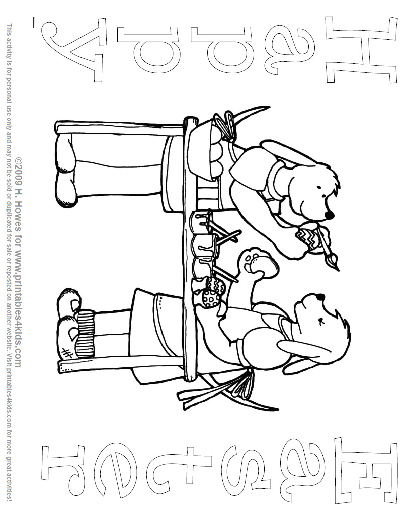 pups decorating easter eggs coloring page printables for kids free word search puzzles. Black Bedroom Furniture Sets. Home Design Ideas