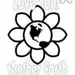 Love Your Mother Earth Day Coloring Page