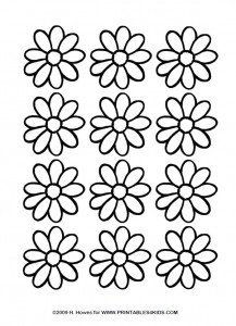 Page of Daisies to cut and color
