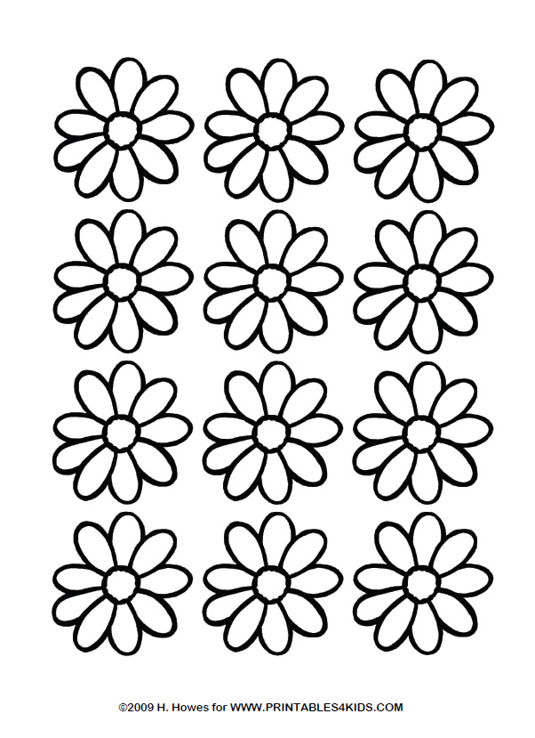 Daisy Coloring Page : Printables for Kids – free word search puzzles ...