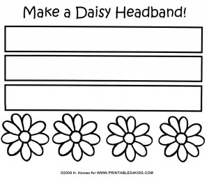Daisy Headband Craft for May Day or Mothers Day