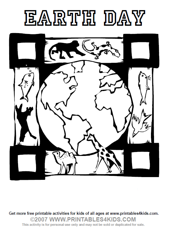 earth day coloring worksheet. Earth Day Coloring Page