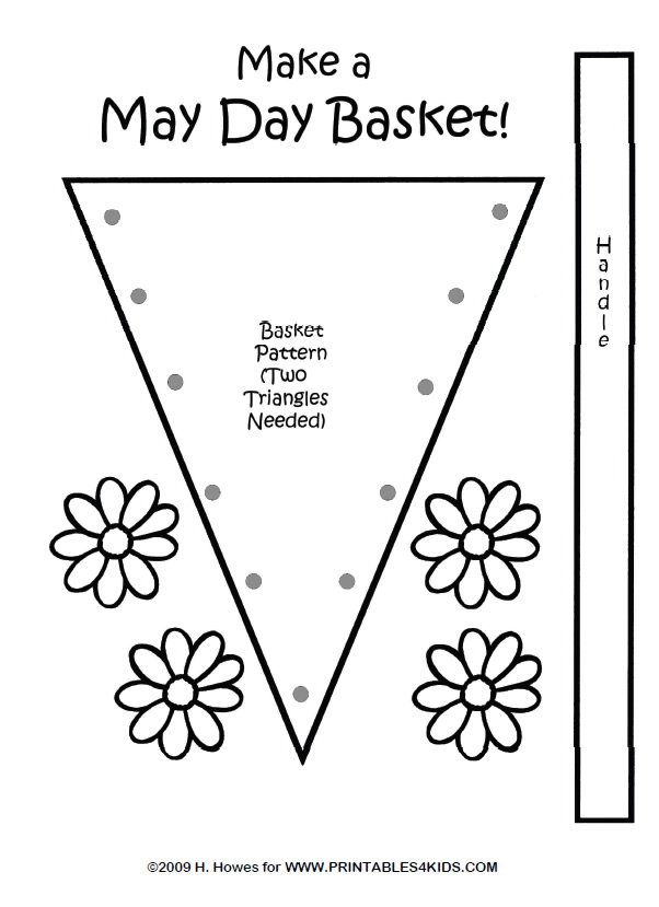 may day daisy basket craft pattern