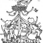 may day may pole coloring page 150x150jpg