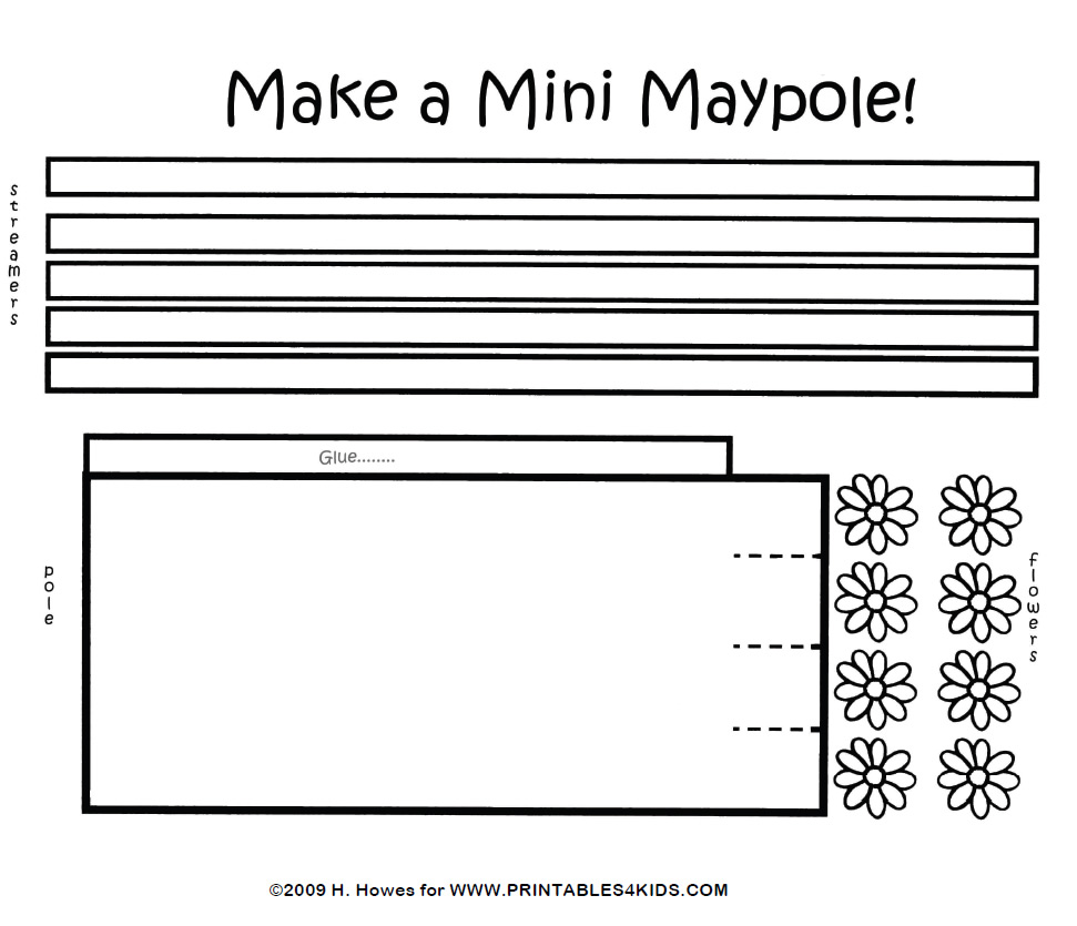 may day crafts and coloring pages mini maypole craft pattern and instructions