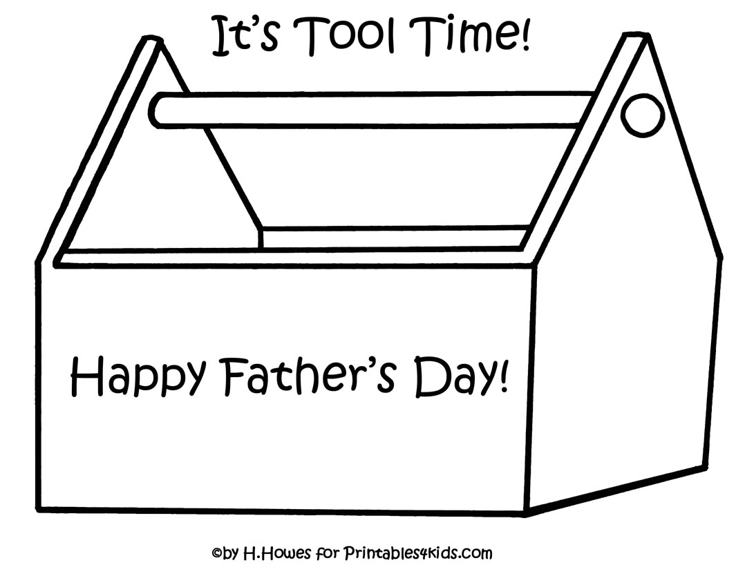 Print And Color Toolbox For Fathers Day Gift Or Card Printables